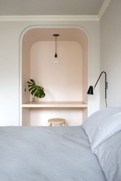 Paint alcove in bedroom a different colour?
