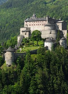 Hohenwerfen Castle, Austria Real Castles, Famous Castles, Beautiful Castles, Beautiful Places, Castle House, Castle Ruins, Hohenwerfen Castle, Places Around The World, Around The Worlds