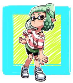 short hair by nijyu-maru on DeviantArt Nintendo Splatoon, Splatoon 2 Art, Cute Characters, Fictional Characters, Girl Short Hair, Cute Shorts, New Leaf, Family Games, Pretty Art