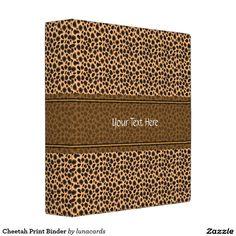 Cheetah Print Binder