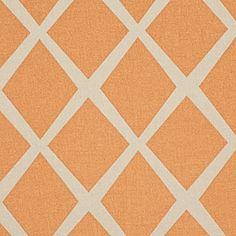 Serena & Lily Saffron/Putty Diamond Fabric
