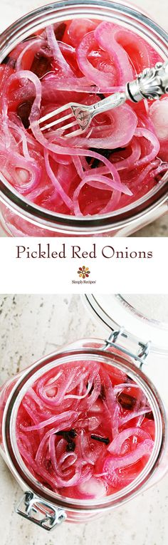 Make your own Pickled Red Onions, it's quick and EASY! Thinly sliced red onions…