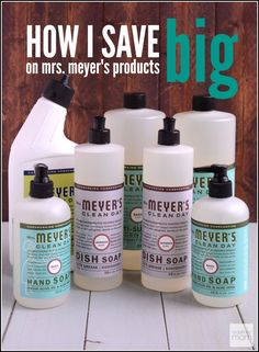 You know how to save big on Mrs Meyers Products? Sign up for ePantry and save 25% vs retail on eco-friendly products, and get a FREE $10 credit immediately.
