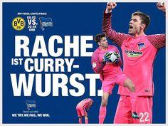 Herthaner es ist @DFB_Pokal-MATCHDAY!  Alles für die nächste Runde!  #BVBBSC #hahohe