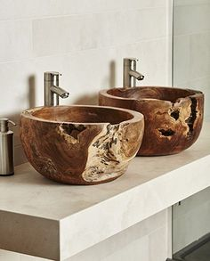 Teak Root Basin – Home Trends 2020 Teak Bathroom, Floating Bathroom Vanities, Bathroom Sink Design, Rustic Bathroom Designs, Floating Vanity, Bathroom Furniture, Plywood Furniture, Furniture Design, Bathroom Suppliers