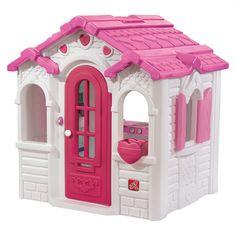 Found it at Wayfair - Sweetheart Playhouse Pink Playhouse, Kids Indoor Playhouse, Outside Playhouse, Backyard Playhouse, Build A Playhouse, Simple Playhouse, Playhouse Kits, Trampolines, Pop Up Play