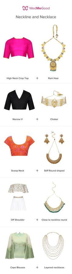 The Rule Book: How to pick the right / for your Indian, Outfit Indian fashion jewellery jewelry via Indian Fashion Dresses, Indian Designer Outfits, Indian Outfits, Fashion Outfits, Style Fashion, Indian Wedding Outfits, Fashion Hacks, Dress Fashion, Fashion Fashion