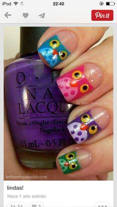Diseño de uñas buos de colores lindisimos y super chu