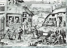 Pieter Bruegel the Elder The seven deadly sins or The seven vices Sloth