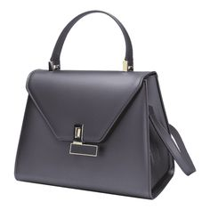 5cba6b152952 Buckled Minimalist Handbag With Strap Deep Gray (110 PEN) ❤ liked on  Polyvore featuring. Ручные Сумки