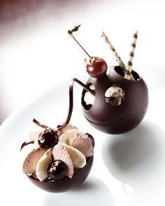 Healthy Recipe That You Can Easily Make Unique Desserts, Gourmet Desserts, Fancy Desserts, Plated Desserts, Delicious Desserts, Dessert Recipes, Mini Patisserie, Dessert Restaurants, Dessert Presentation