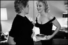 Marilyn Monroe (& Arthur Miller) double dating with Ives Montand & Simone Signoret