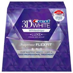 Crest White Luxe Supreme FlexFit Whitestrips - Teeth Whitening Kit Big sale on these until They ship free. Pay less than in stores Free Samples For Women, Free Samples By Mail, Crest Whitening, Teeth Whitening, Gma Deals And Steals, Crest 3d White, Money Saving Mom, Good Morning America, Shopping Hacks