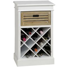 Stylishly store your favourite vintages in this wooden wine cabinet, featuring a classic white finish that looks wonderful in your dining room or kitchen.
