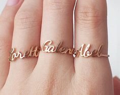 Custom Name Ring Personalized Name Ring от GracePersonalized