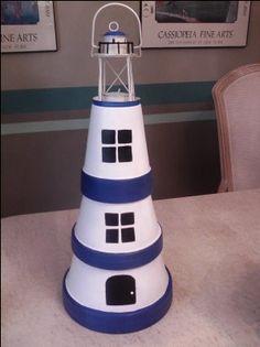 Clay Pot Lighthouse   ThriftyFun