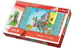 Trefl 15503 - Európa térkép - 200 db-os puzzle