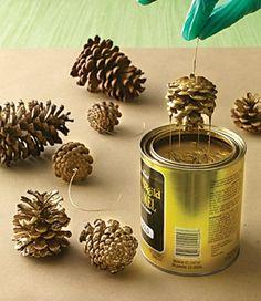 weihnachtsbaumschmuck tannenzapfen färben                                                                                                                                                                                 Mehr