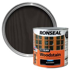 Ronseal 5 year woodstain is a superior quality finish which colour and enhances all smooth planed exterior wood and joinery, whilst providing long lasting weatherproof protection. Teak, Linseed & Other Oils. Coffee Cans, 5 Years, Quick Dry, Hardwood, Home And Garden, Dark, Wood Stain, Antiques, Color