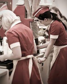 retro waitresses