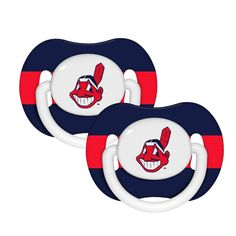 MLB Cleveland Indians Pacifier 2 Pack
