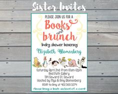 Storybook Baby Shower Invitation Story Book Shower Bring a