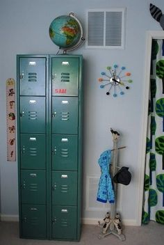 Lockers for kids rooms on pinterest lockers kids for Lockers for kids room