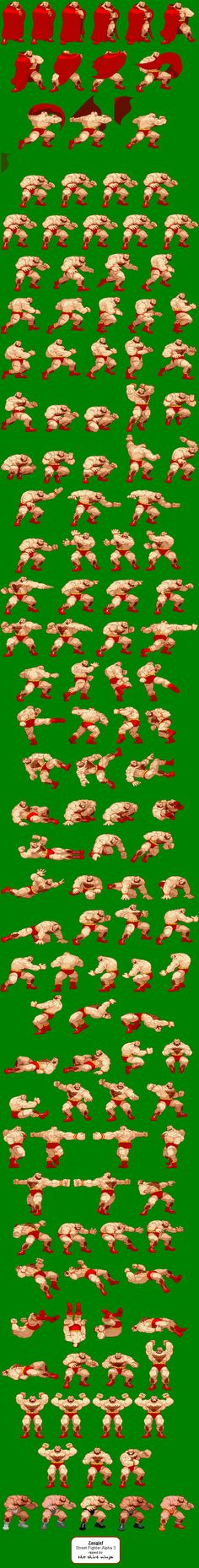 "Capcom - ""Street Fighter"" Game Sprites"
