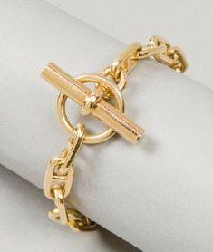 Hermès - Chaîne d'ancre - or jaune, fermoir bâton