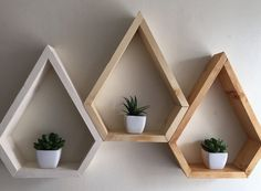 Mordern shelving geometric custom shelving 3 by Lovelifewood