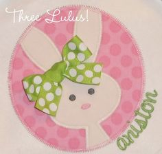 Easter Shirt Bunny Personalized Appliqued by threelulus on Etsy, $22.00