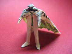 Superman Money Origami