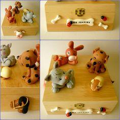 boîte animaux en porcelaine froide