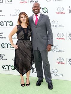 Honoree Van Jones and his wife  arrives at Environmental Media Association Hosts Its 25th Annual EMA Awards Presented By Toyota And Lexus at Warner Bros. Studios in Burbank, California on (October 24, 2015)
