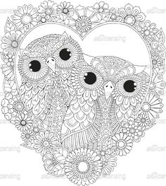 Owl Coloring Pages, Spring Coloring Pages, Pattern Coloring Pages, Cat Coloring Page, Printable Adult Coloring Pages, Mandala Coloring Pages, Preschool Coloring Pages, Coloring Books, Flower Art Drawing