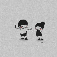 Love Cartoon Couple, Cartoon Boy, Cute Cartoon, Tumblr Cute Couple, Cute Couple Art, Anime Couples, Cute Couples, Friendship Photography, Cute Love Wallpapers