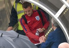 Leicester City striker Jamie Vardy alights the plane after England players touch down at Luton Airport England Euro 2016, England Players, Jamie Vardy, Leicester, Plane, Touch, City, Inspiration, Biblical Inspiration