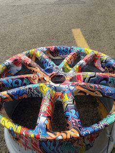 Graffiti Alloy Wheels hydro dipped by Rade Customs
