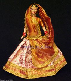 Expressions of India Wedding Fantasy Deboxed Used Barbie Doll NO BOX Gujarati