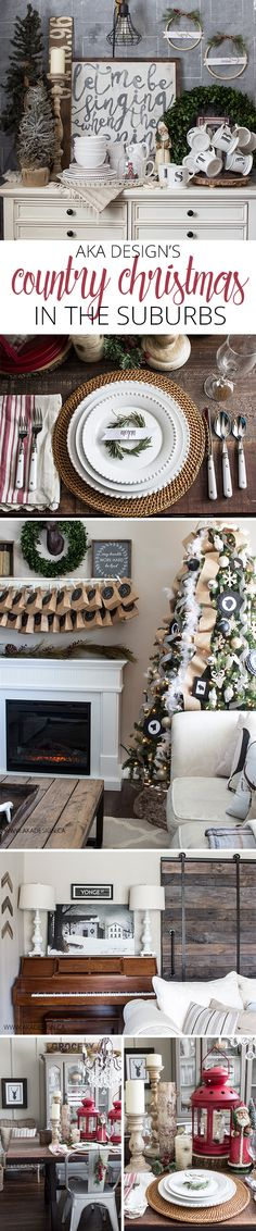 Country Christmas in the Suburbs - Home Tour - http://akadesign.ca/country-christmas-in-the-suburbs-home-tour/ #cbhometour
