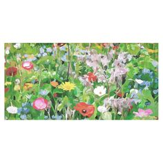 Colorful Flower Garden Floral Landscape Cotton Linen Tablecloth 60