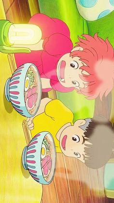 Yummmmy ghibli food is the best looking xD Studio Ghibli Art, Studio Ghibli Movies, Kawaii Wallpaper, Cartoon Wallpaper, Film Anime, Anime Art, Animes Wallpapers, Cute Wallpapers, Studio Ghibli Background