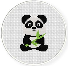 FREE for June 26th 2014 Only - Baby Panda Cross Stitch Pattern