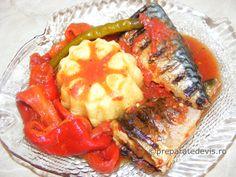 Peste la gratar cu legume Cheesesteak, Fish, Ethnic Recipes, Pisces