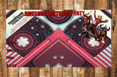 Digital Birthday Party Invitation,Digital Thank You Card,Guardians Of The Galaxy Birthday Invitation,Guardians Of The Galaxy Thank You,Bday by AbushelandapecCrafts on Etsy