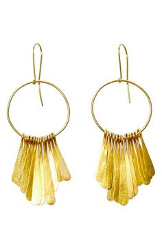 Free shipping and returns on SOKO Fringe Earrings at Nordstrom.com. Hammered leaves of brass fringe striking circle-drop earrings inspired by a traditional Kikuyu betrothal necklace and handcrafted by local artisans in Kenya.