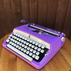 Brother De LUXE Purple Typewriter Portable Vintage Serviced customized ribbon | eBay