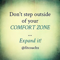 """You have probably heard of it. The """"step outside of your comfort Zone concept"""". I totally agree with it. But the underlying truth behind that concept is: we should learn how to get comfortable doing uncomfortable things. So instead of stepping out of your zone of comfort, it's all about expanding it. We all know what are the limits of our comfort zones, but its potential of expansion is unlimited. Unleash the giant within.  #changeyourmindsetchangeyourlife  #quoteoftheday"""