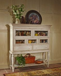 Tall Sideboard, Sideboard Cabinet, Antique Sideboard, Sideboard Ideas, Hutch Ideas, Side Board, Repurposed Furniture, Painted Furniture, Antique Furniture