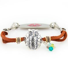 """Hooty Who Medical ID Bracelet ...Really cannot decide which of these to get. I like them all! >.>"""""""